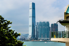 The highest One with Reflection - Hongkong 126/188 (*Capture the Moment*) Tags: 2017 architecture architektur clouds farbdominanz figline himmel hochhaus hongkong icc internationalcommercecenter sky skyscraper sonya7m2 sonya7mii sonya7mark2 sonya7ii sonyfe70200mmf28gmoss sonyilce7m2 wolken blau blue urban urbanliving