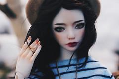 hello spring II (AzureFantoccini) Tags: zaoll luv bjd doll abjd balljointeddoll balloon spring snow wind girl april portrait sun outdoor dollmore