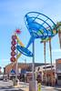 Fremont Street, Las Vegas, Nevada (Mike Sirotin) Tags: architecturephotography cityphotography travelphotography iphoto sincity martiniglass lasvegas nv olive cityscape city nevada freemontstreet architecture vegas sculptures