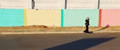 Put Some Colour in Your Life (Alex L'aventurier,) Tags: maroc morocco essaouira street rue couleurs colors urban urbain city ville femme woman candid wall mur pink tose jaune yellow turquoise shadow ombre pastel