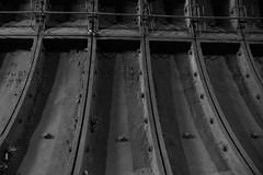 Tunnel Wall Plates (steve_whitmarsh) Tags: london euston tunnel abandoned derelict station tube underground bw blackandwhite monochrome eustonstation subway