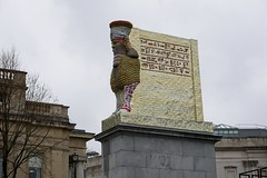 The Invisible Enemy Should Not Exist - 3 (garryknight) Tags: sony alpha a6000 on1photoraw2018 london creativecommons ccby30 fourthplinth fourth plinth trafalgarsquare wingedbull winged bull statue michaelrakowitz assyrian isis theinvisibleenemyshouldnotexist lamassu nineveh can tin datesyrup iraq 28th 28 march