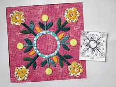Chuck Nohara block nr. 649 (ompompali Claudia) Tags: chucknohara applique quilt quilts patchwork