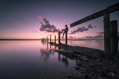 Katelyn 0D7A5255 (BJRAYNER) Tags: cleveland clevelandpoint oldjetty sunset brisbane