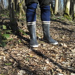 136 - AIGLE Wellworn Wellies filled with mud ( Rubberboots Gummistiefel Laarzen thumbnail