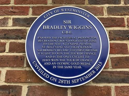 Bradley Wiggins plaque