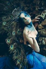 "TEATRONATURA ""The blue peacock"" (valeriafoglia) Tags: model makeup magic art atmosphere peacock beautiful beauty blue nature photography photo portrait pretty creative composition colors creature capture fantasy fairy forest face"