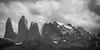 Monochrome Towers (jeff_a_goldberg) Tags: conaf unesco chile bw mountains monochrome unescoworldheritagesite patagonia torresdelpainenationalpark torresdelpaine nationalcorporationofforest parquenacionaltorresdelpaine naturalhabitatadventures nathab biospherereserve mountain torresdepaine regióndemagallanesydelaan regióndemagallanesydelaantárticachilena cl