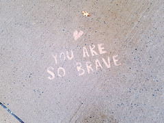 ♥️ You are so brave (Fred:) Tags: you brave stencil sidewalk halifax novascotia trottoir stencils graffiti uplifting message motivation bravery courage heart coeur positive positivity sidewalks city street trottoirs writing words