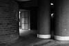 Ben Johnson House (cybertect) Tags: benjohnsonhouse carlzeisstessart45mmf28 chamberlinpowellandbon cityoflondon ec2 london londonec2 modernism sonya7ii thebarbican architecture blackwhite blackandwhite building column monochrome