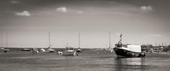 An odd shaped boat… (AJFpicturestore) Tags: boat workingboats wellsnextthesea norfolk monochrome sea fishing fisherman alanfoster
