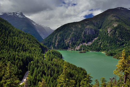 Views Seen at the End of the Thunder Knob Trail (North Cascades National Park Complex)