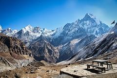 World's best lunch view (cecpha) Tags: himalaya nepal mountain sky peak himalayas annapurna range mountains trekking trek hiking landscape nature photography