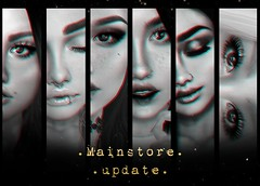 look at all these things I put in the mainstore <3 (Mafalda Hienrichs) Tags: warpaint war paint secondlife makeup mainstore release update applier catwa lelutka bento eyeliner eyeshadow lipstick lashes eyebrows events