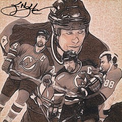 44 - Scott Stevens (Bob Smerecki) Tags: smackman snapnpiks robert bob smerecki sports art digital artwork paintings illustrations graphics oils pastels pencil sketchings drawings virtual painter 6 watercolors smart photo editor colorization akvis sketch drawing concept designs gmx photopainter 28 draw hollywood walk fame high contrast images movie stars signatures autographs portraits people celebrities vintage today metamorphasis 002 abstract melting canvas baseball cards picture collage jixipix fauvism infrared photography colors negative color palette seeds university michigan football ncaa mosaic