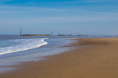 A quiet day at Palling in Norfolk (Geordie_Snapper) Tags: 2470mm bactonholiday canon7d2 eastanglia march norfolk seadefences seapalling spring sunny england unitedkingdom gb