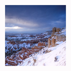 Bryce - Velvia 50 (magnus.joensson) Tags: usa american utah bryce canyon national park snow hasselblad 500cm zeiss distagon 50mm fle fuji velvia 50 sunrise e6 6x6 medium format