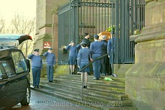 Kens coffin leaves cathedral (James O'Hanlon) Tags: sir ken dodd sirkendodd kendodd funeral cathedral anglican liverpool liverpoolcathedral anglicancathedral stars knotty ash knottyash squire legend comedy