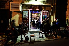 Gugar (Douguerreotype) Tags: bar city dark night people street malta urban valletta