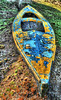 IMG_4048_49_50_P4a_700 (band68uk) Tags: canoneos5dmark2 canoe boat peeling paint yellow blue hdr