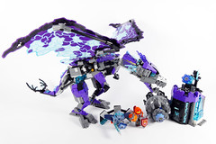 """Jestro's Storm Dragon - LEGO Nexo Knights 70356 Alternate MOC (""""grohl"""") Tags: lego nexo nexoknights macy jestro garg clay dragon mythical creature animal wings winged function technic 2017 70356 instructions prison huge drak wyvern alternate cmodel grohl666"""