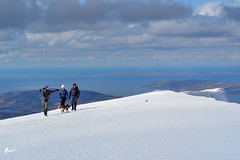 On the edge of Ben More (KMPhotos) Tags: scotland unitedkingdom gb ben more mountain munro hills hill hillwalking climbing snow boots walkers