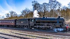 45212 Winchfield 05 April 2016 (11) (BaggieWeave) Tags: winchfield hampshire southwestmainline lswr black5 blackfive 45212 460 cathedralsexpress steam steamengine steamlocomotive steamtrain