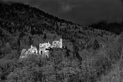 Spectral ruins (ció che resta) [Explored 2018.04.06] (drugodragodiego) Tags: lodrone storo trentino italy castle architecture landscape paesaggio blackandwhite blackwhite bw biancoenero pentax pentaxk1 k1 pentaxda60250mmf4edifsdm smcpentaxda60250mmf4edifsdm