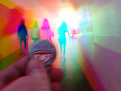 Peace with art 4: walk into the light (Thiophene_Guy) Tags: thiopheneguy originalworks olympusxz1 xz1 harrisshuttereffect harris shutter colour colors colours rainbow color surreal thsfeset harrisshutter motion movement dynamism blur blurphotography movingcamera