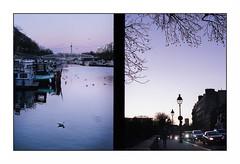Paris (Punkrocker*) Tags: olympus pen ft halfframe zuiko 38mm 3818 film fuji superia 400 couleur color street city people sky harbor arsenal paris sunset france