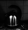 call the kettle black (PIKIERA) Tags: kettle marble tiling tile tea metal gray grey black white shine luster handle photography photo timber wolg wolf ash kitchen instrument tool coffee boiler warm hot teas greentea cammomille