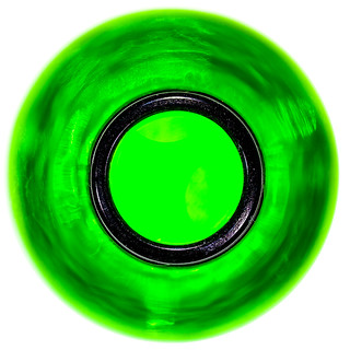 A view into an empty beerbottle