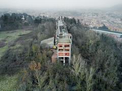 DJI_0066 (trevor.patt) Tags: gresleri parmeggiani diani architecture modernist brutalist concrete religious casalecchio bologna it aerial drone dji mavic ruin abandoned trespass explore