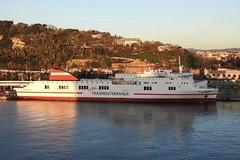 ferry ship Dimonios in the port of Barcelona Spain 2018 (roli_b) Tags: ferry ship fähre schiff boot boat dimonios bcn barcelona port spain dimoniosax t rex uno trexuno borja dos borjados marine puerto hafen harbour 2018 trasmediterranea