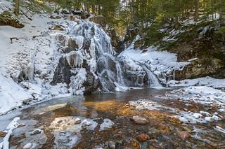 Spring Snows At Wentworth Valley Falls