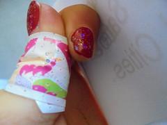 DSC02635 (classroomcamera) Tags: closeup hand hands girl girls girly nail nails nailpolish nailpolishes bandaid bandaids white writing paper papers