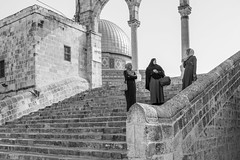 Mosquees esplanade (NightFlightToVenus) Tags: jerusalem musulmane women esplanade mosquée bnw israel monochrome blackandwhite noiretblanc nb