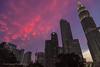 Sunset at Kuala Lumpur, Malaysia (Phuketian.S) Tags: sunset malaysia building skyscraper architecture night evening city street sky cloud landscape dramatic cityview petronas tower bank phuketian kuala lumpur