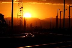 Sunset over the railroad yards (dsgetch) Tags: railroadsunset sunset pnwsunset cascadia pacificnorthwest pnw pnwlife pnwwonderland oregon willamettevalley lanecounty eugeneoregon eugenespringfield