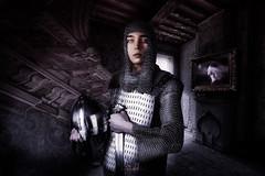 The armed man (Jaak van Hemelryck - Artlab-11) Tags: portrait k1 pentax urban explore tmots knight urbex artlab11 concept conceptual dark battle