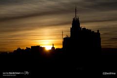 Sunset & Telefonica Building (Ref: 0630) (Instagram: @jbedrina) Tags: sunset azoteadelcirculo madrid streetphotography urbanphotography cityscape architecture buildings silhouette lighting tourism spain createdecoration jbfphoto
