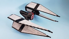 First Order Elite TIE Interceptor (Edge of Bricks) Tags: lego star wars first order elite tie interceptor fighter moc mod design designer last jedi force awakens