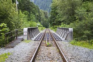 CN railway bridge over Cheekye River