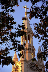San Francisco - St. Peter & Paul Church Steeple At Evening (David Paul Ohmer) Tags: san francisco california wahington square north beach st peter and paul church steeple cross evening light