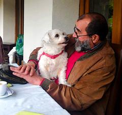 Eu e a minha Princesa | Me and my Princesa | A photo by Rosa Abreu (António José Rocha) Tags: portugal eu cadela homem olhar barbas antóniojosérocha princesa