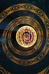 Cully 1726 (- Hob -) Tags: 1726 lightpainting longexposure singleexposure led orb spiral underground addressable frankenstick bitmapwaving red yellow blue sooc nopostprocessing airraidshelter