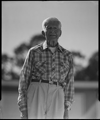 grandpa on 4x5 film (Garrett Meyers) Tags: autograflex4x5 garrettmeyers garrett meyers largeformat portrait 4x5film 4x5 flannel grandpa san diego old man wrinkles homedeveloped graflex graflex4x5 ilfordfilm