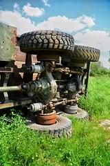 DSC_0021-01 (Stéphane Piegle) Tags: urbex exploration camion truck épave char militaire abandonné armée