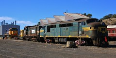 A78 Y157 and XR552 sit in the North Bendigo workshops yard (bukk05) Tags: a78 railpage:class=30 railpage:loco=a78 rpauvicaclass rpauvicaclassa78 aclass y157 xr552 yclass xrclass explore export engine emd electromotivediesel aat22c2r emd12645e3b emd6645e g6b emd16645e3c gt26c3 railway railroad railpage rp3 rail railwaystation railwaystations train tracks tamron tamron16300 trains yard photograph photo pn pacificnational loco locomotive horsepower hp cityofgreaterbendigo flickr flight freightaustralia diesel freight station australia autumn 2018 canon60d canon clyde clydeengineering victoria vr victorianrailway vline victorianrailways broadgauge bg bendigo northbendigo ssr workshop centralvictoria