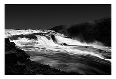Top of Gullfoss Waterfall (www.davidrosenphotography.com) Tags: waterfall gullfoss water iceland bw blackwhite